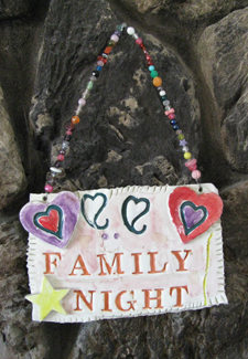 Family Night Sign